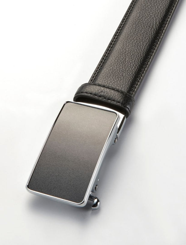 Men's Onyx Black Stitch Edge Leather Belt