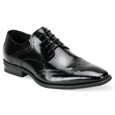 Giovanni Bentley Black Lace-Up Men's Dress Shoes