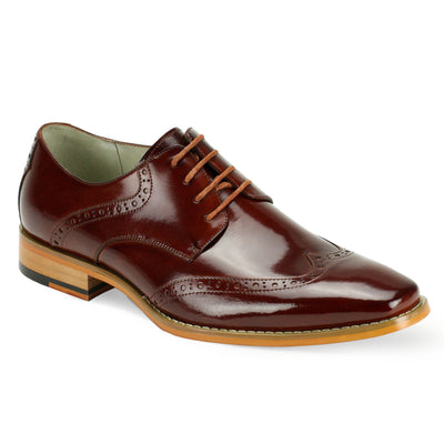 Giovanni Bentley Cognac Lace-Up Men's Dress Shoes