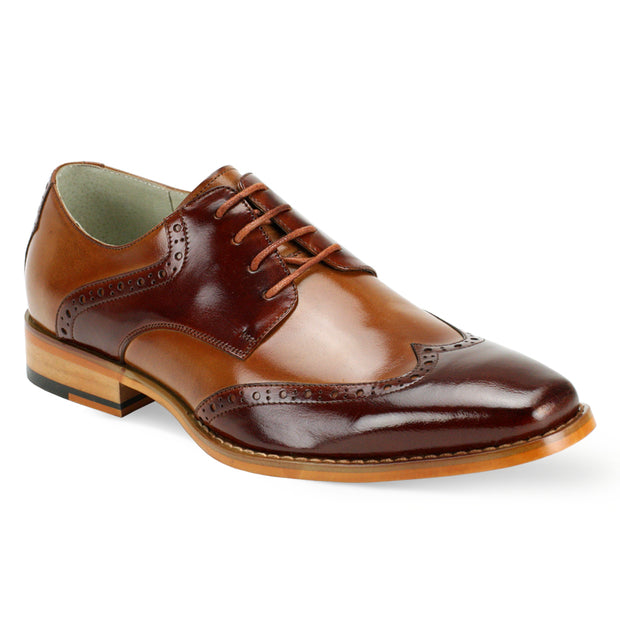 Giovanni Bentley Tan II Lace-Up Men's Dress Shoes