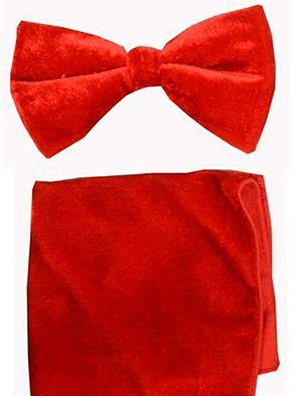 Red Velvet Bowtie and Hanky
