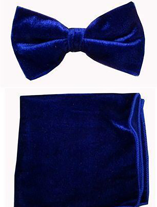 Royal Blue Velvet Bowtie and Hanky