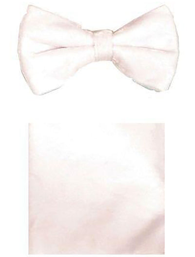 White Velvet Bowtie and Hanky