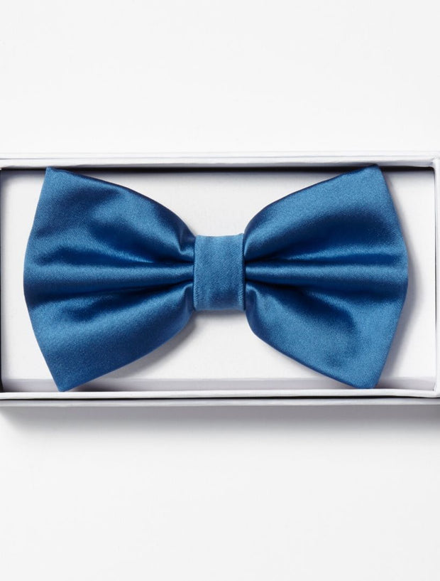 Mens Adjustable Pre-Tied Satin Bowtie In Royal Blue