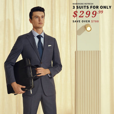 3 Suits for $299 Suit Bundle