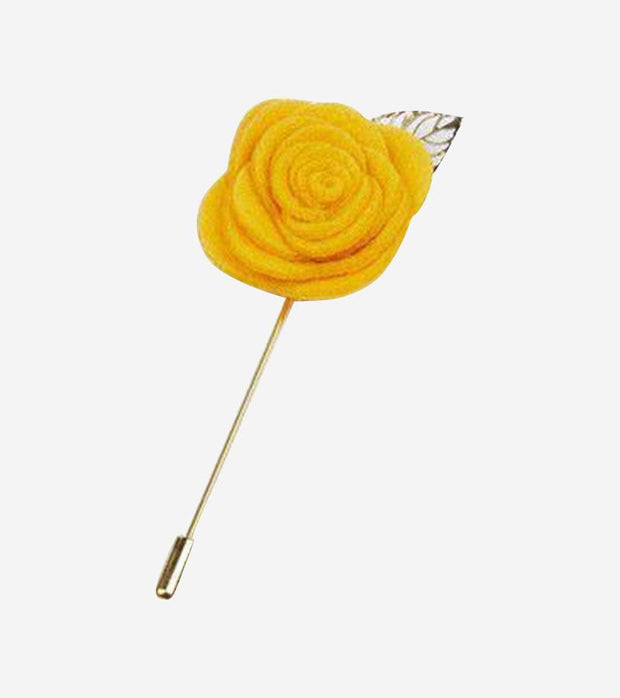 Yellow with Gold Leaf Lapel Pin