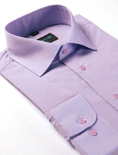 Karako Men Lavender Modern Fit Dress Shirt - Side View