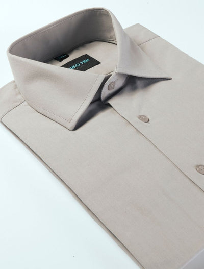 Karako Men Grey Modern Fit Dress Shirt - Side View