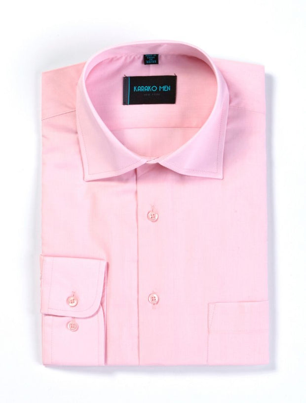 Karako Men Pink Modern Fit Dress Shirt
