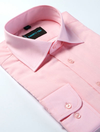 Karako Men Pink Modern Fit Dress Shirt - Side View