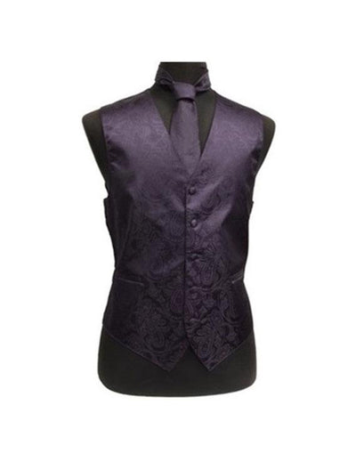Men's Paisley Grape Tuxedo Vest