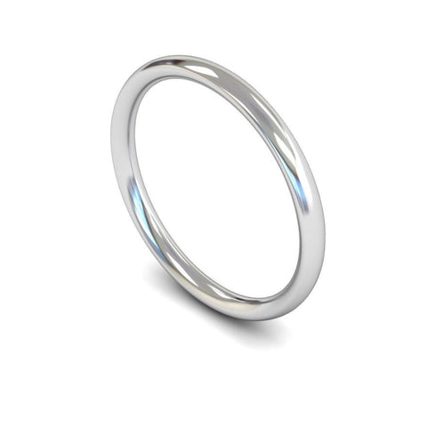 Plain Court Band (Light) - Jade Wedding Rings