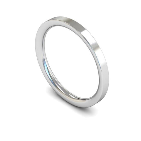 Plain Flat Court Band (Medium) - Jade Wedding Rings