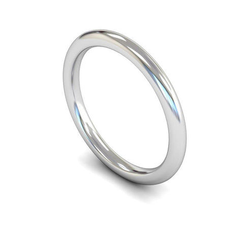 Plain Domed Court Band (Light) - Jade Wedding Rings