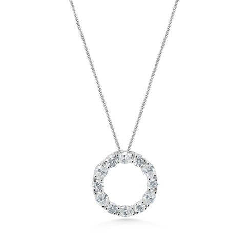 Diamond Oval 'Circle of life' Pendant