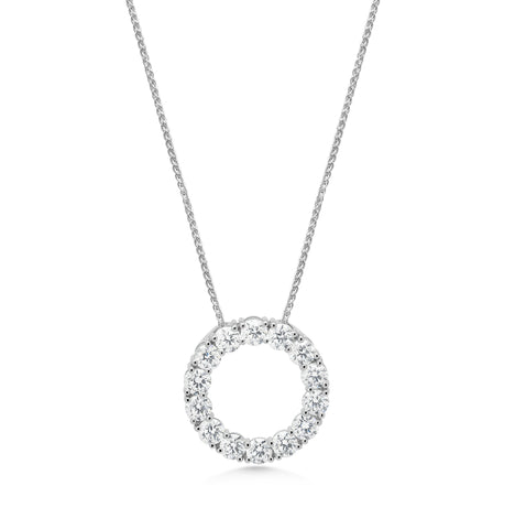 Diamond 'Circle of life' Pendant