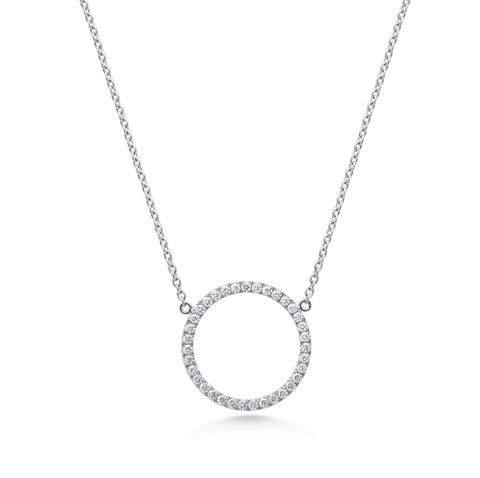 Platinum Diamond 'Circle of life' Pendant