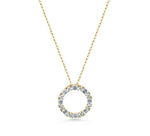 Baguette Diamond 'Circle of life' Pendant