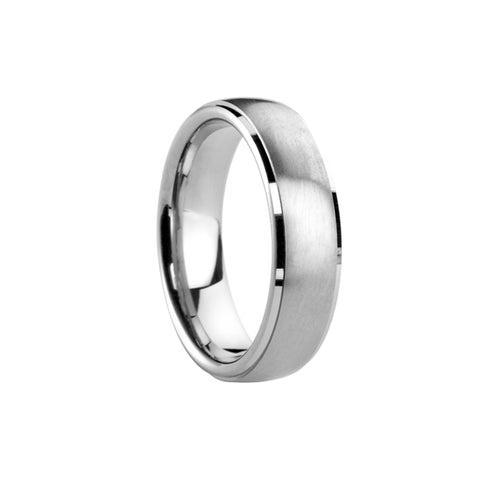 Satin Centre Bevelled Edge Court Band - Jade Wedding Rings