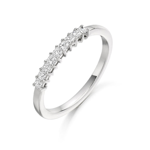 Princess 7 Stone Ring 0.27ct