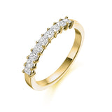 Princess 9 Stone Ring 0.53ct
