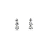 3 Stone Graduated Drop Earrings