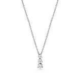 Diamond 3 Stone Drop Pendant