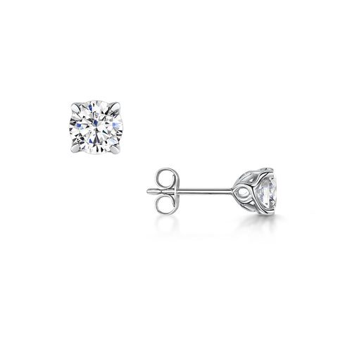 Diamond Jasmine Stud Earrings