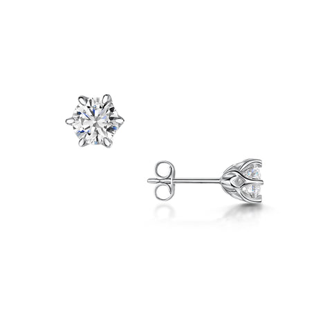 Diamond Lattice Stud Earrings