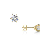 Diamond Petal Stud Earrings