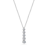Diamond 5 Stone Drop Pendant