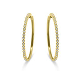 Diamond Rub-over Hoop Earrings