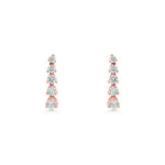 Diamond 5 Stone Drop Earrings