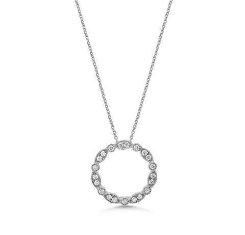 Diamond Vintage 'Circle of life' Pendant