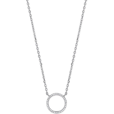 "Circle of Life 16"" Necklace with Extension - Jade Wedding Rings"