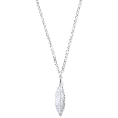 "Feather 16"" Necklace with 2"" Extention - Jade Wedding Rings"