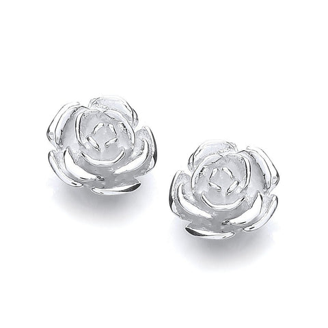 Rose Stud Earrings - Jade Wedding Rings