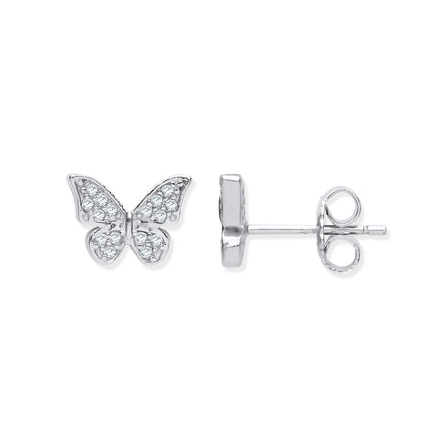 Butterfly Stud Earrings - Jade Wedding Rings