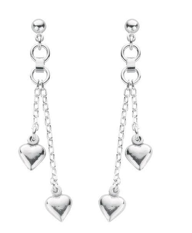 Strand Heart Drop Earrings - Jade Wedding Rings