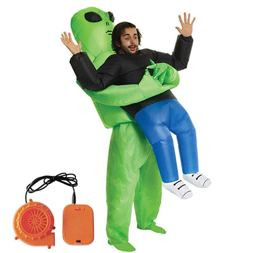 Inflatable Costume Green Alien Halloween