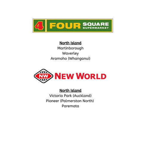 Four Square & New World stockists