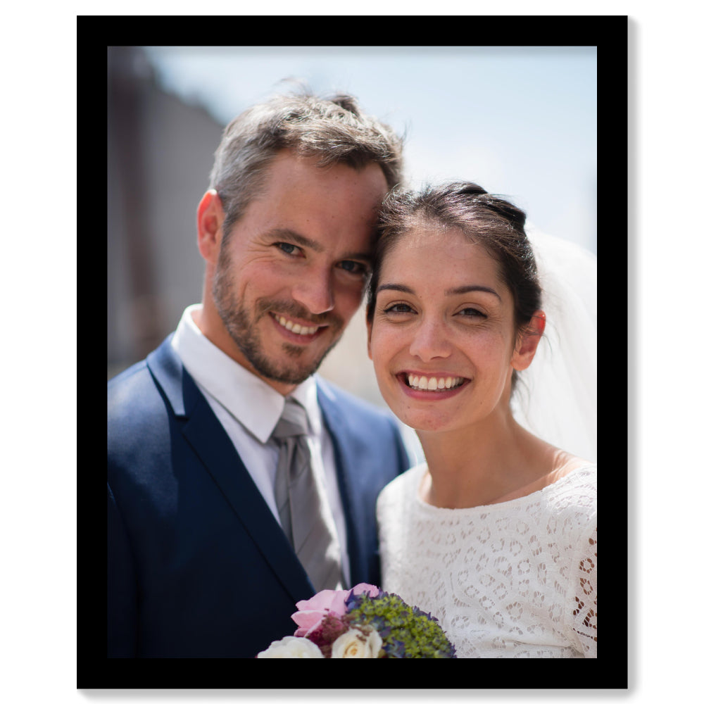 Personalised Photo Upload - Black Framed Print | Printzware