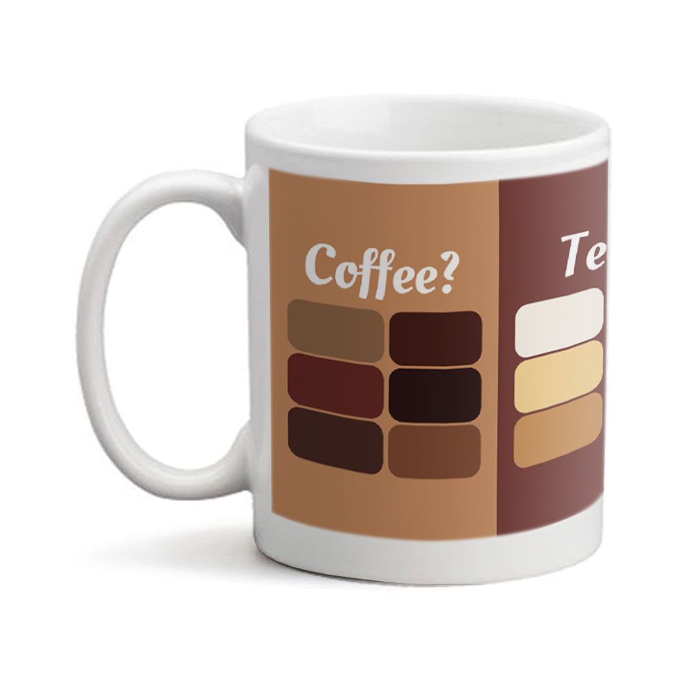 Coffee Tea Me Colors - Personalized Mug