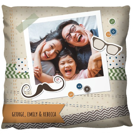 Polaroid with Buttons - Personalized Cushion
