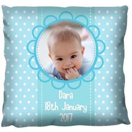 Baby Boy Blue - Personalized Cushion