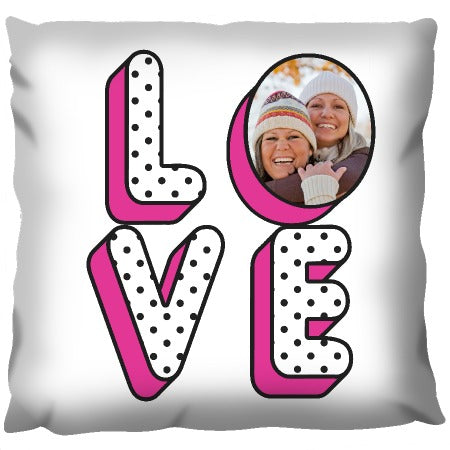 The Word Love Photo - Personalized Cushion