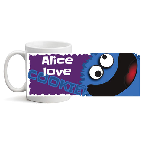 Love Cookie Monster - Personalized Mug