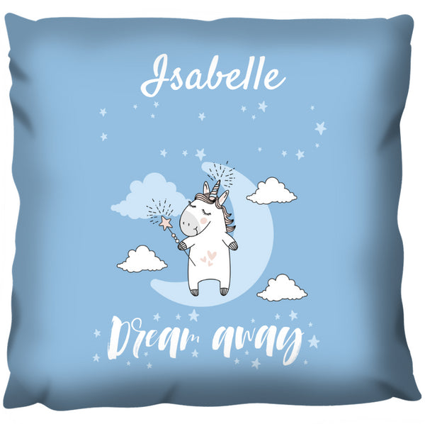 Dream Away Unicorn - Personalized Cushion