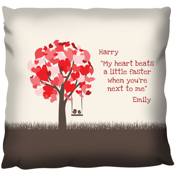 Love Birds - Personalized Cushion