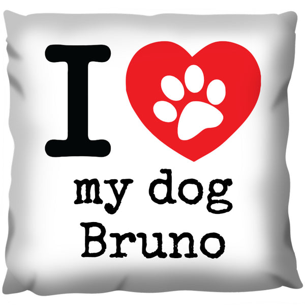 Love My Dog - Personalized Cushion